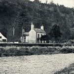 Wallace house and river